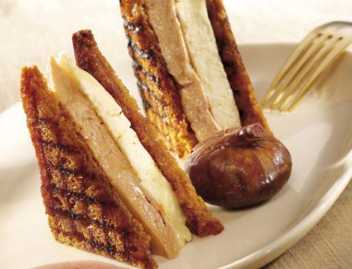 Foie gras en croque-monsieur pain d'épices & Chaource